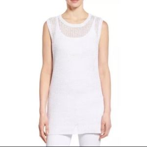 Eileen Fisher Organic Linen Sleeveless Tunic Top